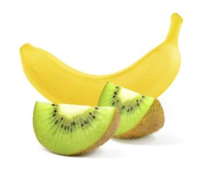 bananas and kiwi