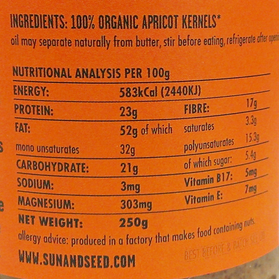 apricot kernel butter ingredients