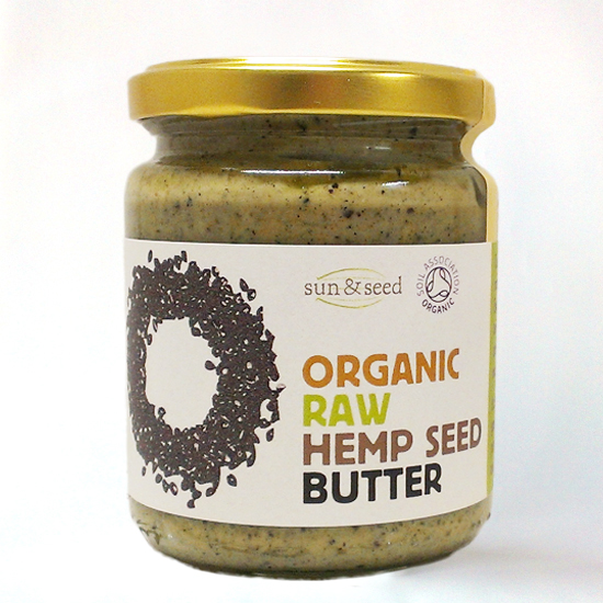 hemp seed butter, raw and organic