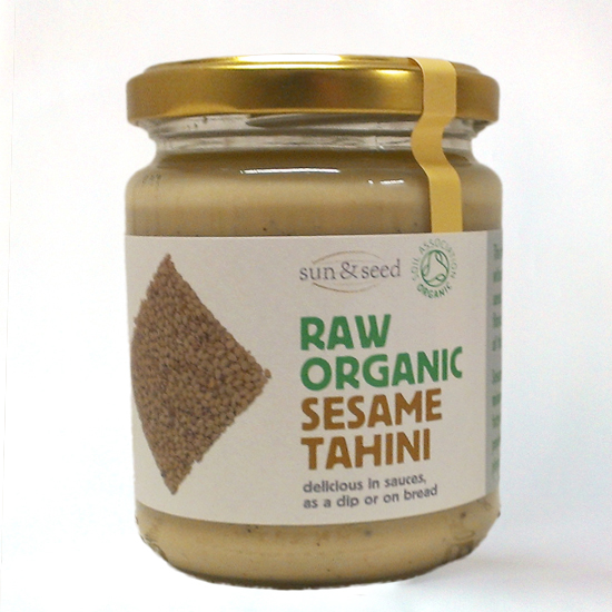 white tahini, raw and organic